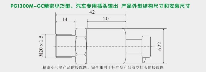 汽车专用压力变送器,pg1300mc专用压力传感器